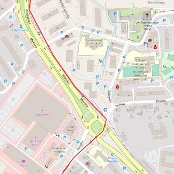 Zoom sur la richesse des informations de OSM (Cracovie)